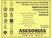 Asesoria de tesis, Monografias, Proyectos, Planes de Negocios