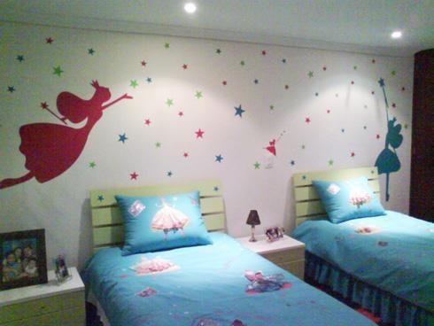 Murales en cuartos para ni as imagui for Alcobas infantiles para nina