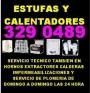 Servicio tecnico de calentadores y estufas tel 329 0489