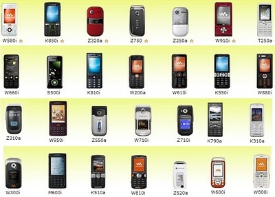 Celular sony ericsson todas las referencias libre mp3 wifi tactil gsm camara video