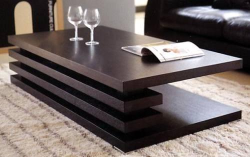 Fotos de mesa de centro en madera de diseño vanguardi en ...