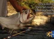 Pesca deportiva en Colombia, rio guayabero en la Macarena, Meta