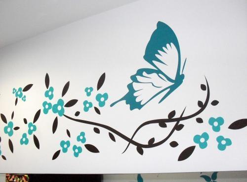 Decoraci n en vinilo para paredes imagui - Decoracion en pared ...