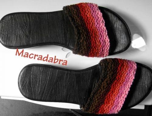 Sandalias tejidas en macramé macradabra