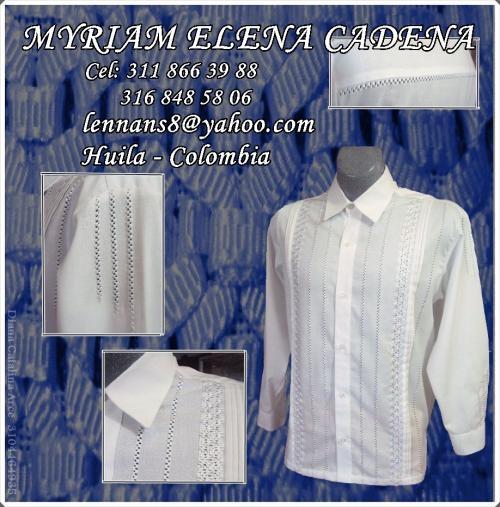 Fotos de Guayaberas bordadas a mano: vendo camisas para caballero, bordadas amano, en la 3