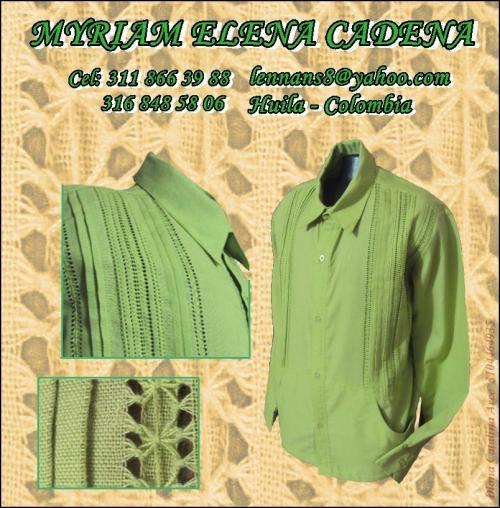 Fotos de Guayaberas bordadas a mano: vendo camisas para caballero, bordadas amano, en la 1