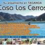 TAGANGA, Casa LOS CERROS, hermoso estudio, tranquilo, seguro con piscina y vista al mar.