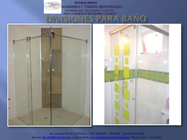 Puertas Para Baño En Acrilico En Cali:Fotos de Divisiones para baño en vidrio y acrilico en Bogotá