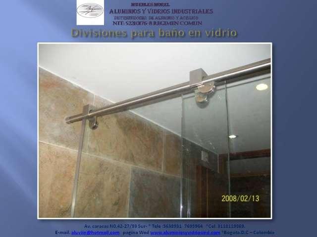 Puertas Para Baño En Acrilico En Cali:Divisiones para baño en vidrio y acrilico en Bogotá, Colombia