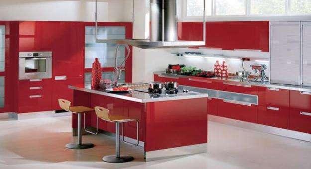 Cocinas integrales modernas color rojo imagui for Venta de cocinas
