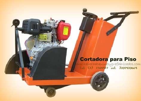 Cortadora para piso con motor gasolina
