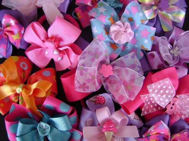 Moños para diademas de bebé - Imagui