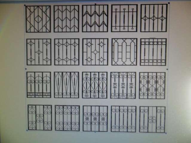 1000 images about rejas on pinterest window bars black for Modelos de rejas de fierro para puertas