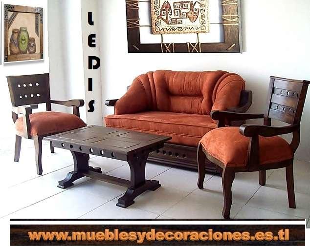 Fotos de Sala rústica, rinconera, sofa, sillas, puff, e en Atlántico