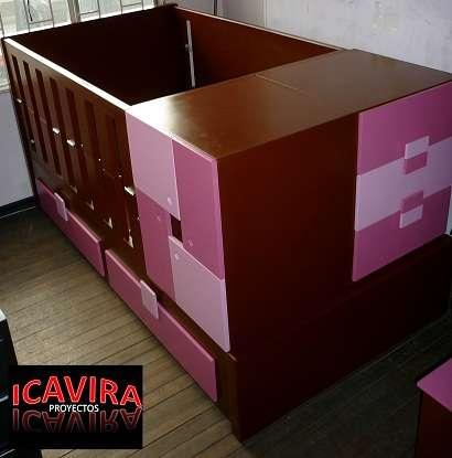 Cama cuna convertible en alcoba con escritorio. en Bogotá - Muebles ...