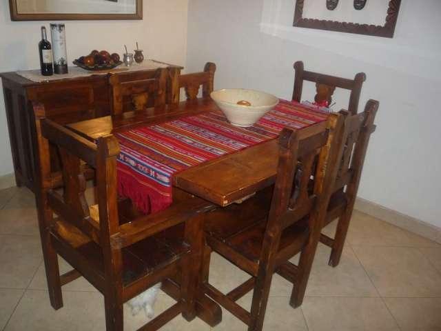 Juegos de salas de madera for Muebles comedor madera