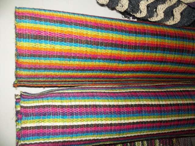 Telasfabricadas totalmente en hilo fique en varios colores