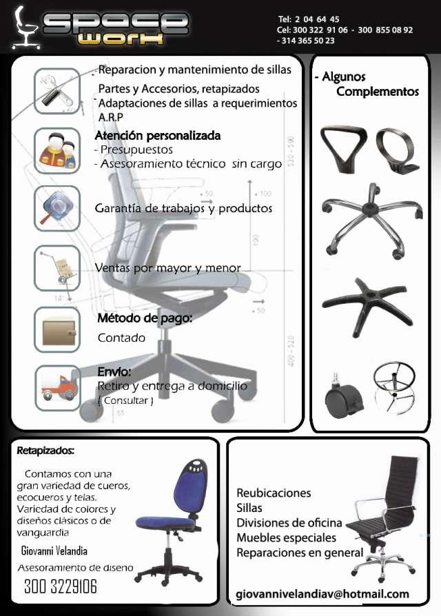 Partes para sillas de oficina en Bogotá - Otros Servicios | 416098