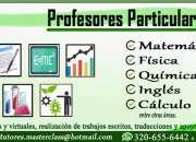 Clases y profesores particulares de matemàticas, fìsica, quìmica, inglès, cálculo
