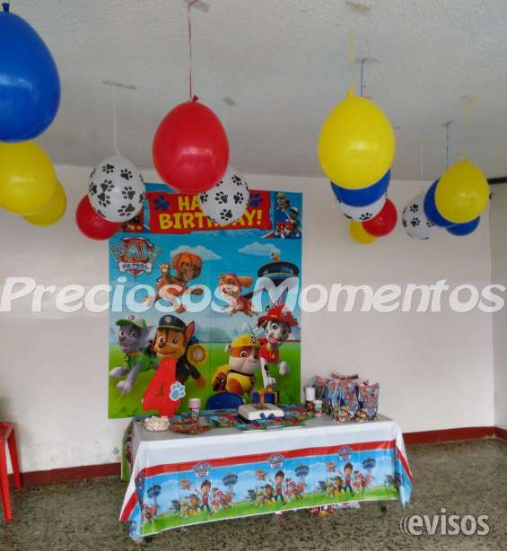 Fiesta Paw patrol; Globos y decoración