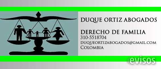 Abogados especialistas en derecho de familia, divorcios, proceso de alimentos duque ortiz firma de abogados contáctenos al: 310-5518704  duqueortizabogados@gmail.com  www.duqueortizabogados.wix.com/inicio especialistas en procesos de:   afectación a vivie