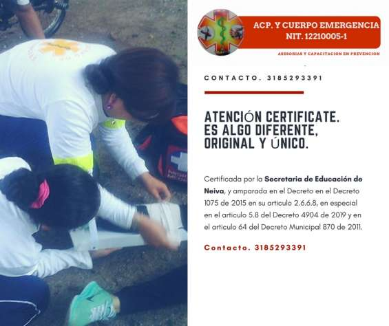 Certificate para la emergencia