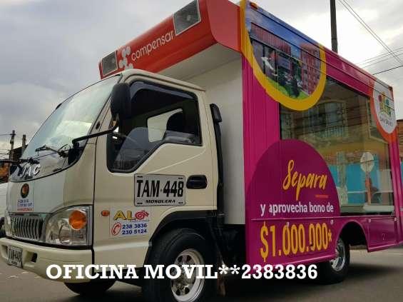 Servicio de valla móvil en bogota 3115601017