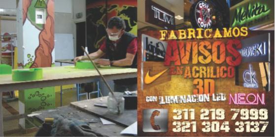 Letras en acero publicidad exterior de alto impacto visual en acrílico volumetrico en le