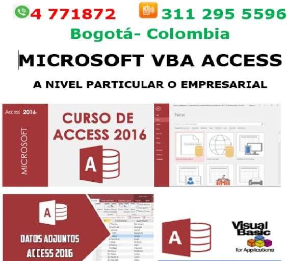 Access base de datos, visual basic bogotá, curso, asesorias, clases, access macros