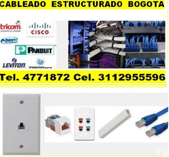 Instalación puntos de red, cableado estructurado, organización de racks, tendido de