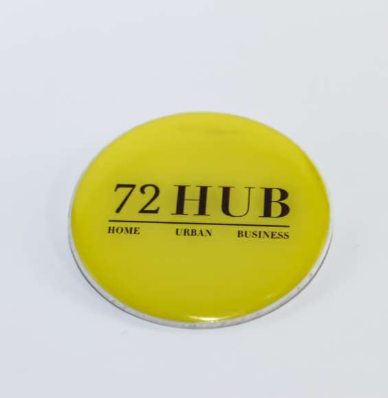 Botones publicitarios resinados con volumen alto relieve cualquier tamaño y forma