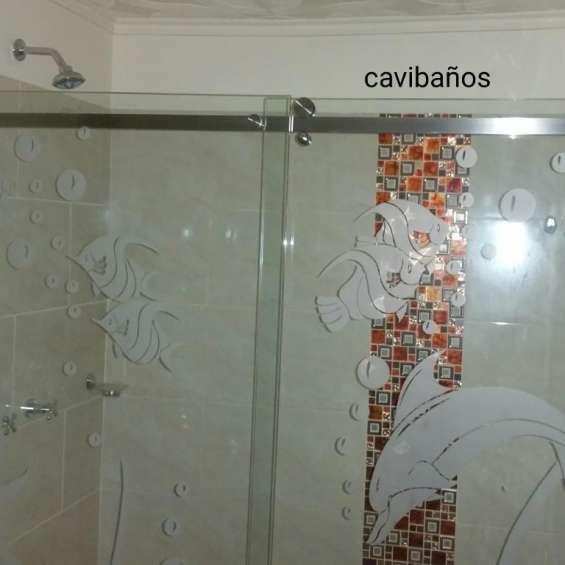 Cabinas para baños vidrio templado