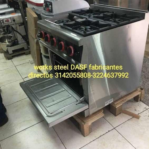 Estufas industriales en acero