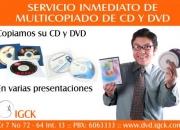 Multicopiado de cd y dvd -reproduccion de discos