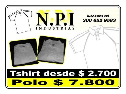 Vendo camisetas blancas nacionales 100% algodon