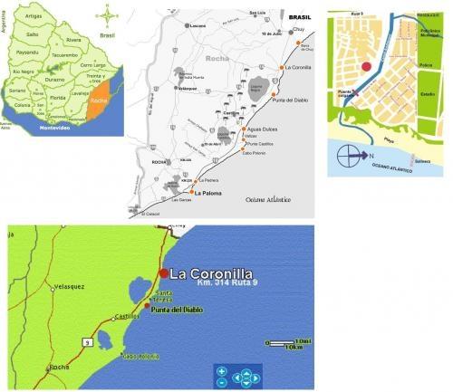 Uruguay -alquiler de cabaña de madera en balneario la coronilla km314 de ruta 9 rocha, uruguay, a 20 km del chuy (frontera con brasil) y a 20 km de punta del diablo.