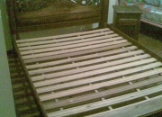 Vendo juego de alcomba doble en  madera gruesa