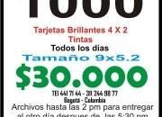 Tarjetas de Presentacion economicas bogota $30.000