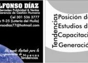 Ofrezco servicios como profesional en mercadeo, publicidad & ventas