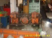 Compresor doble cabezote , tanques en acero y  unidad hidraulica