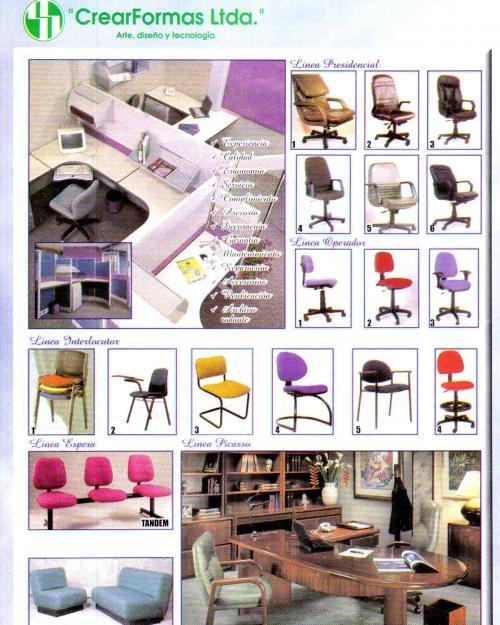 Muebles modulares y sillas ergonómicas