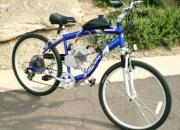 Bicicleta con motor.motor para bicicletas.