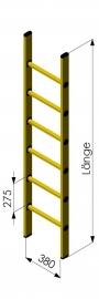 Escalera PRFV fibra de vidrio