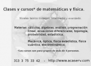 Clases de matemáticas.