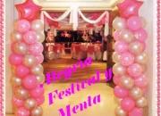 Globos  minitecas fiesta 15 años boda banquete pasabocas