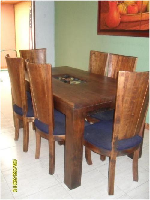 Vendo sala comedor usados estilo rustico