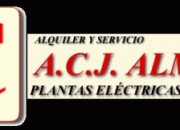 Acjalmanza alquiler y servicio plantas eléctricas