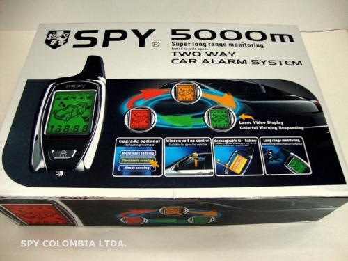 Alarma spy 5.000mts doble via 2 control remoto lcd