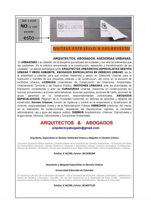 Abogados y arquitectos especialistas en derecho urbano