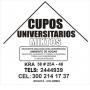 CUPO UNIVERSITARIO